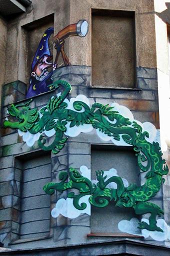 urban ornament, kiefernstreet, art points, flying dragon, 2006
