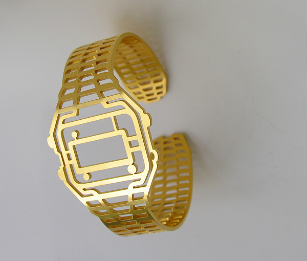 time to forget about the time, watch,  TIMEPEACE, bracelet, in gold , silver, dark ruthenium