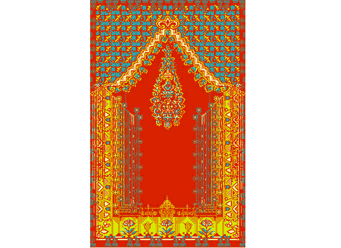 Denise Julia Reytan, Denise Reytan, Reytan, Berlin, Jewellery, Gebetsteppich, moderne Gebetsteppiche, modernes teppichdesign,