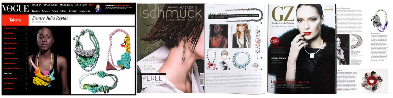 Denise J. Reytan Jewellery Berlin Vogue Gioiello